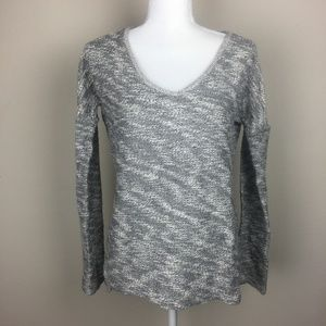 PAIGE Chunky Knit Sweater Marbled Heathered Gray M